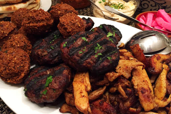 Family Style Falafel, Chicken Shawarma & Beef Kefta thumbnail (click to enlarge)